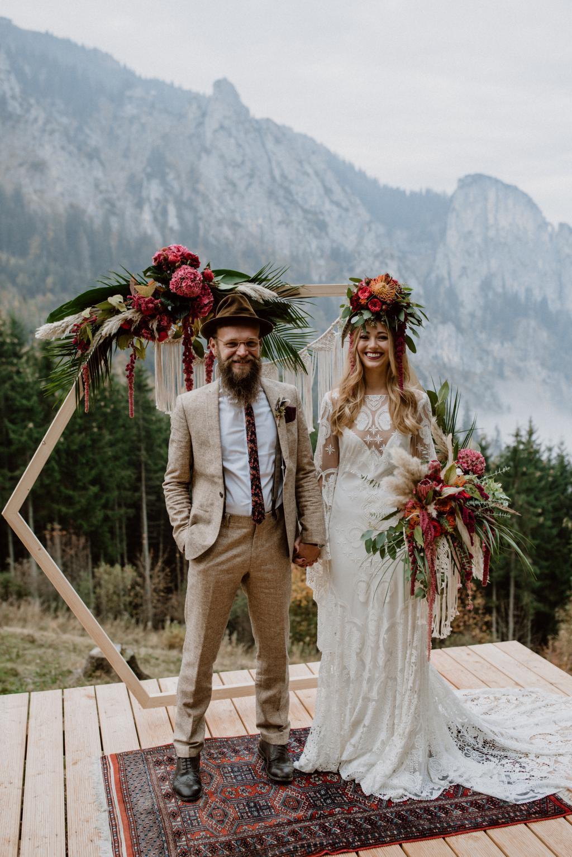Hochzeit Zu Zweit Elopement Im Boho Stil Auf Dem Wallberg