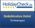 Holidaycheck most popular Hotel in Schwangau