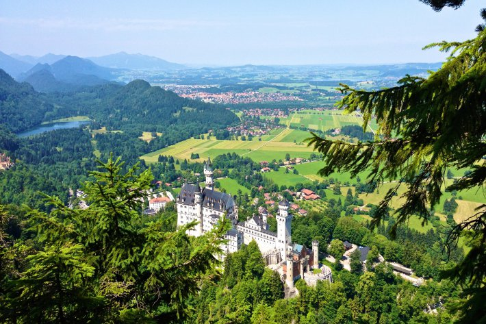 Castles and surroundings around the hotel Das Rübezahl in Schwangau, Allgäu